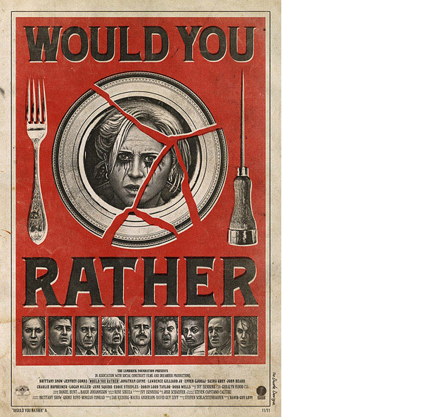 would you rather tom hodge movie poster
