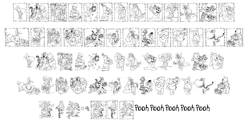 001 Pooh Holiday Dings font