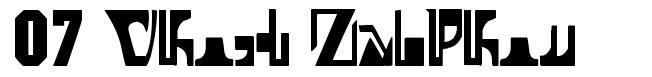 07 Ghost Zaiphon písmo