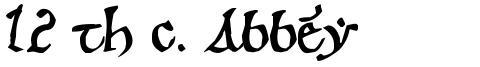 12 th c. Abbey