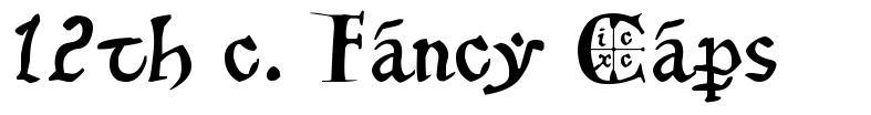 12th c. Fancy Caps font