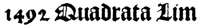 1492 Quadrata Lim 字形