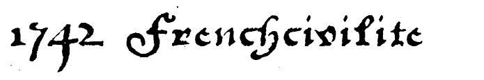 1742 Frenchcivilite