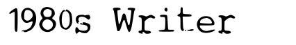 1980s Writer font