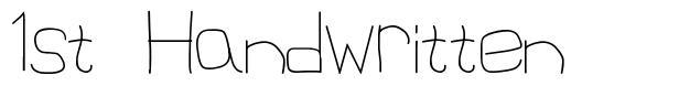 1st Handwritten font