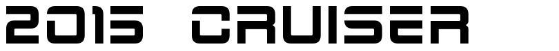 2015 Cruiser font