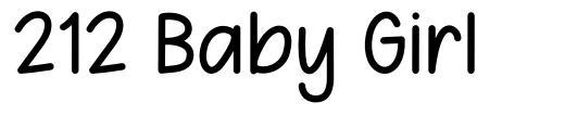 212 Baby Girl fonte