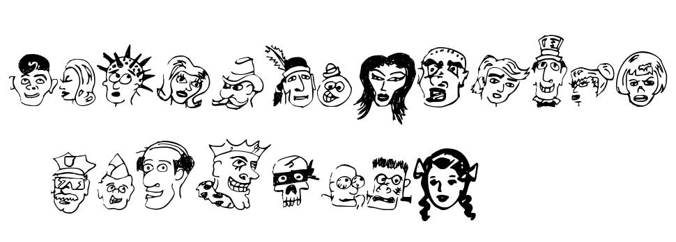 21 Heads font