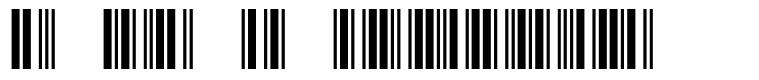 3 of 9 Barcode font