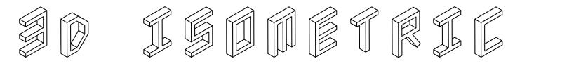 3D Isometric fonte