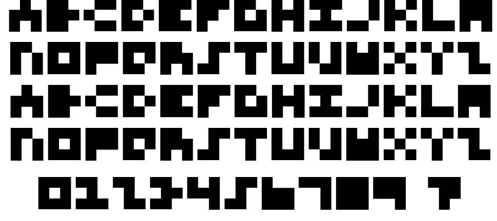 3x3 Font for Nerds font by Norwegian Ink / Design for Dough