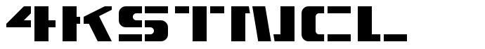 4KSTNCL font