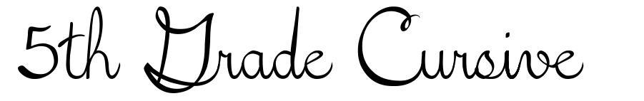 5th Grade Cursive font
