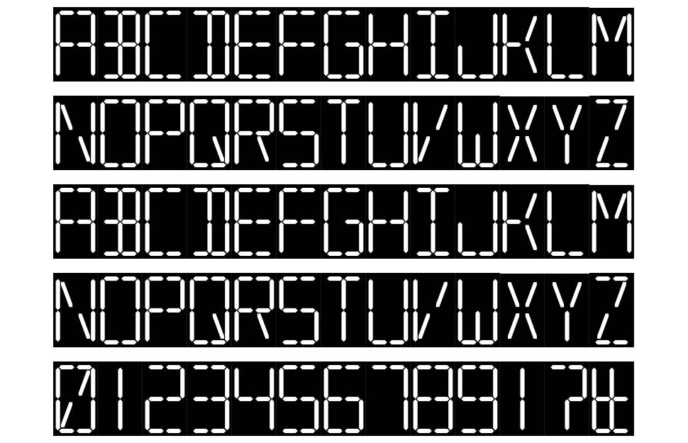 7 Segmental Digital Display font