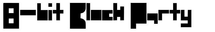 8-bit Block Party fonte