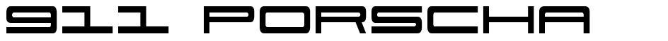911 Porscha font
