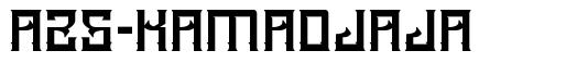A25-Kamadjaja font