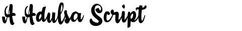 A Adulsa Script
