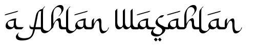 a Ahlan Wasahlan フォント