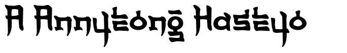 A Annyeong Haseyo フォント