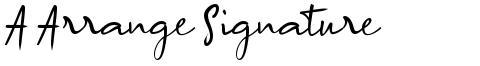 A Arrange Signature