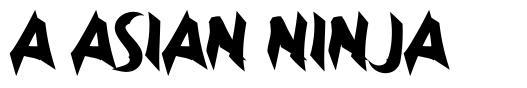 a Asian Ninja フォント