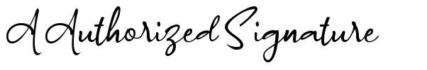 A Authorized Signature