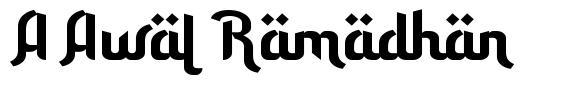 A Awal Ramadhan font