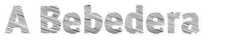 A Bebedera font