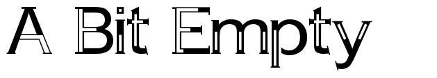 A Bit Empty шрифт