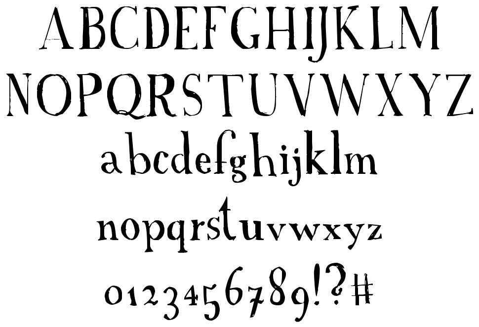 A Font with Serifs fonte