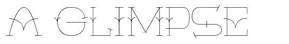 A Glimpse шрифт
