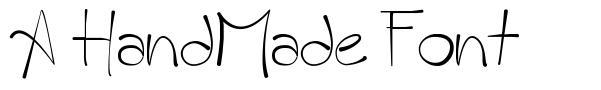 A HandMade Font font