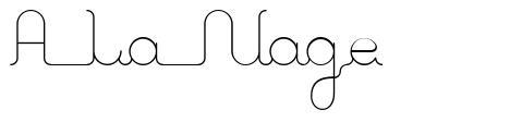 A La Nage
