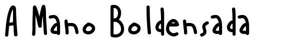 A Mano Boldensada font