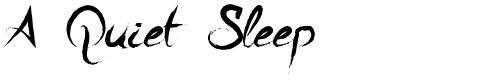 A Quiet Sleep
