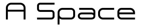 A Space font