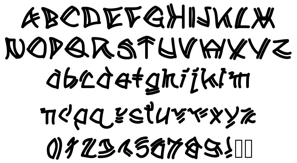 A Tribe of Aclems font