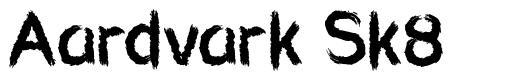 Aardvark Sk8 fonte