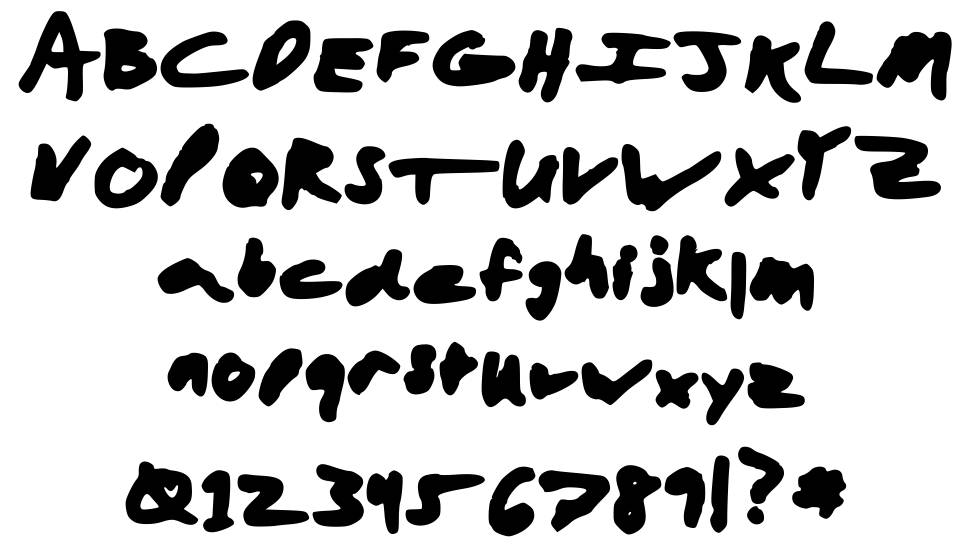 Aaron with a Marker font