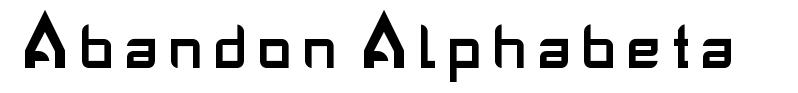 Abandon Alphabeta font