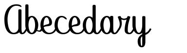 Abecedary font