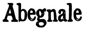 Abegnale font