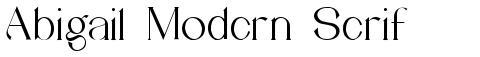 Abigail Modern Serif