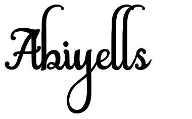 Abiyells schriftart