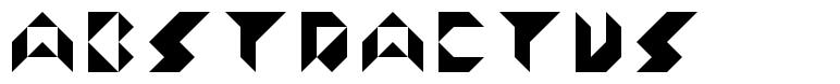 Abstractus font