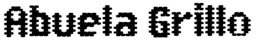 Abuela Grillo шрифт