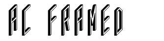 AC Framed font