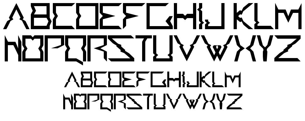 Accedent font