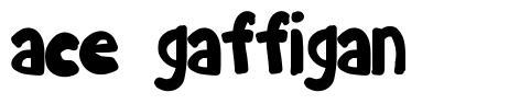Ace Gaffigan font